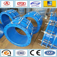 best price for ductile iron flange coupling with rubber seal
