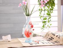 STXJ008 Made in China Goldfish Ceramic Tall Vase