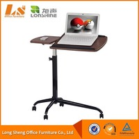 Portable Folding Laptop Table Desk Stand With Wheel