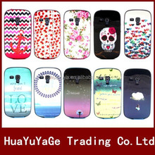 Colorful Flower Owl Pattern TPU+PLastic Soft phone cases cover for Samsung Galaxy S3 mini i8190