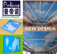 New style Blue sky integrated ceiling suspended ceiling tile