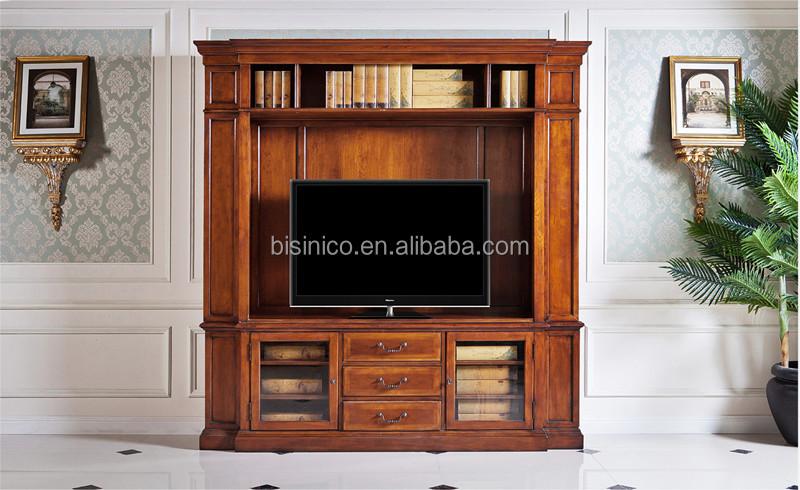 Wohnzimmermobel Vintage : Vintage design holz tv schrank amerika stil replik