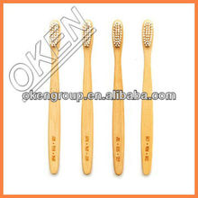 lots wholesale Bamboo toothbrush with free engrave logo