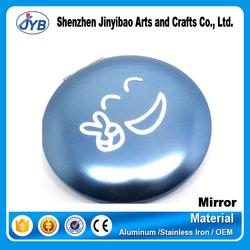 custom logo cheap aluminum purse size cosmetic mirrors