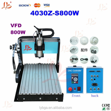 Cheap CNC engraving machine 4030Z-S800W, 3 axis carving machine with water cooling spindle motor