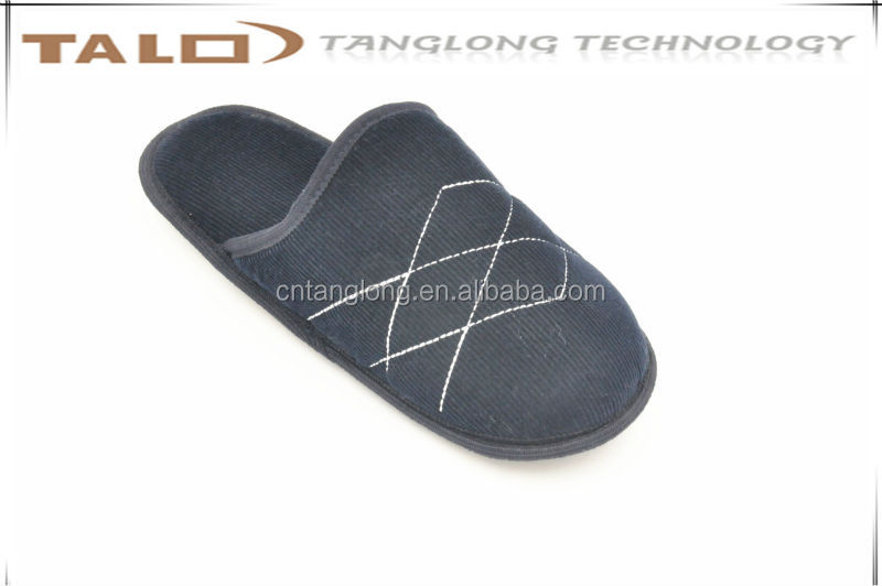 mens corduroy home slippers,mens indoor slippers