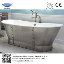 cast iron bathtub,freestanding bathtub with mental skirt,portable bathtub for adults