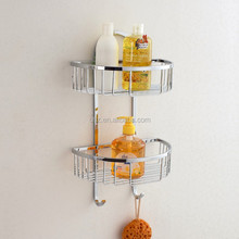 Bathroom hanging basket, semi round bathroom wire soap basket YMT-8814