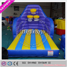 Lilytoys attractive EN14960 trampoline inflatable basketball shoot