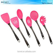 KNU0103 FDA & LFGB nylon kitchen utensil set PS handle
