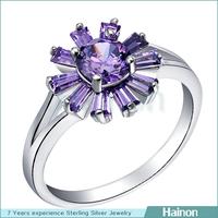 2015 new purple zircon women wedding ring hot design