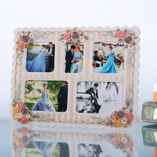 Christmas gift wall hanging picture frame large decorative big rose flower wedding photo frame 0.8kg 5 boxes Venetian style