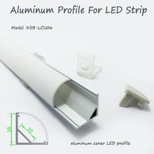 Led coin profilé en aluminium avec opale mat diffuseur PMMA couverture et clips de montage pour LED light bar