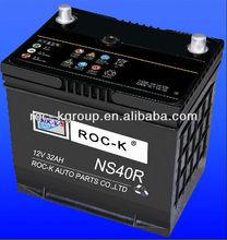 Maintenance free starting Automotive battery NS40R