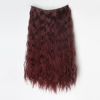 Fashion 5 Clips-onSynthetic Hair Extension Hairpiece Deep curly 10 Colors