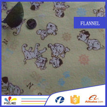 china 100% cotton printed flannal fabric for baby bedding set