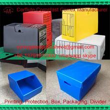 pp corrugated foldable plastic file box