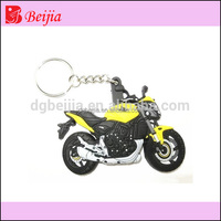 New product custom rubber motorcycle keyring pvc keychain
