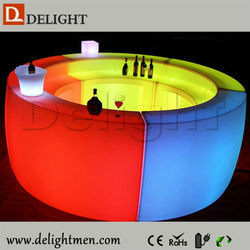 Commercial furniture Mobile Glow Illuminated LED Slide Break party bar counter designs for hotel