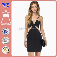 Mesh cutout ladies modern whole dress manufacture