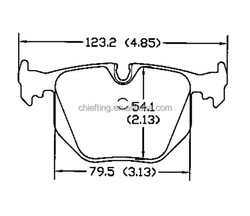 D683 34216761250 for BMW Land Rover car brake pad