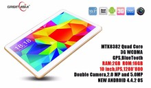 10.1 inch tablet pc with 3g phone call function MTK8382 quad core factory directly sale