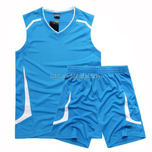 Professional high quality blue Basketball jersey uniform for sale