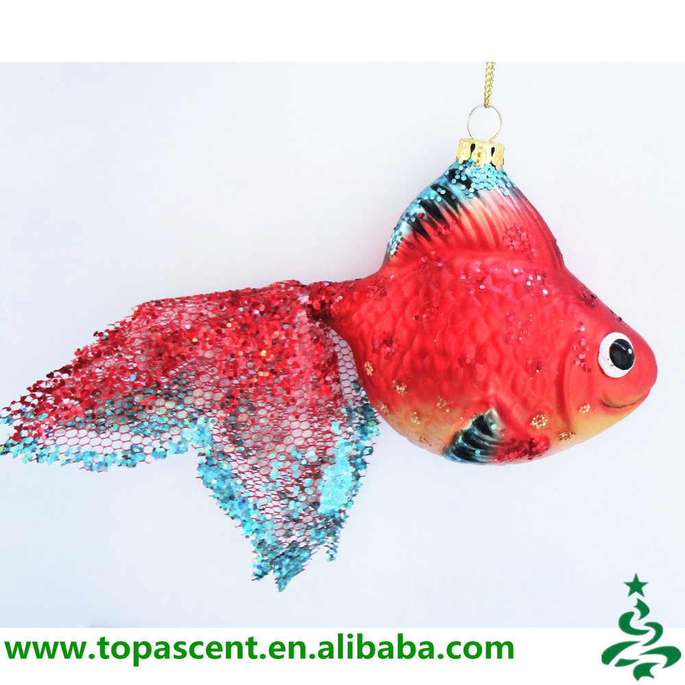 Colored Tropical Glass Fish Shaped Christmas Ornaments Wholesales ...