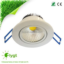 Newest COB 3W 5W movable led ceiling light fixture