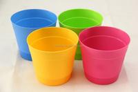 new product for 2016 artificial flowers in pots decorative plastic flower pots colourful garden pots