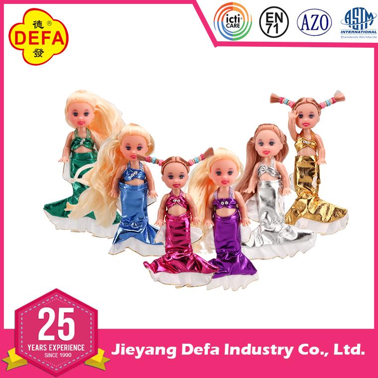 New vinyl fairy evening dress mermaid toy doll with mermaid baby.jpg