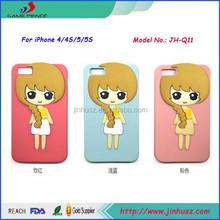Lovely Little Girl Soft Silicone Back Cover for iPhone 4/5/6/6+
