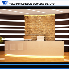 Incredible! Customize modern high glossy white curved reception desk
