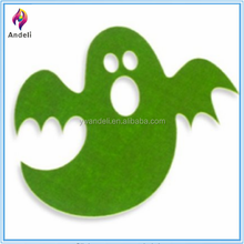 """The Boutique Green Felt Ghost Halloween Placemat FOR Party Favor 15.5"""" X 16"""""""