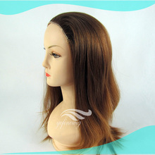 Best Selling Blonde Straight Human Hair Kosher Wigs Band Fall
