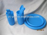 Picnic Plastic Dinnerware Sets outdoor flatware set