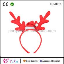 cuernos de reno de navidad vestido de lujo festivo venado ciervo en las orejas diadema