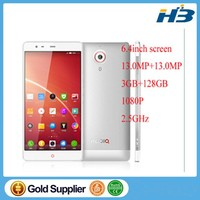 "hot selling ZTE Nubia X6 4G LTE Snapdragon MSM8974AB Quad Core Cell Phones FHD 1920x1080 6.4"" 2G+32G ROM Android 4.3 NFC 4250mAh"