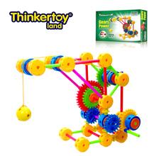 Thinkertoy artesanos universales engranajes energía niño bloques de avance bloque de cadena de juguete de la grúa