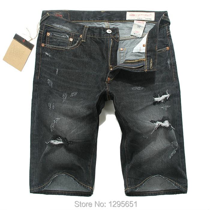 Destroyed Jean Shorts Mens Summer Men Jeans Shorts