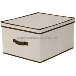 Collapsible storage container, non-woven fabric storage box with lid