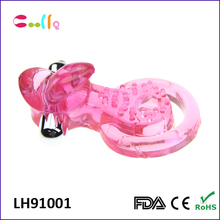 Cheap wholesale bull head cock ring vibrator for men penis