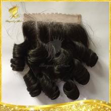 DHL fast Shipping 7A Peruvian Funmi Curly virgin hair lace closure, human hair closure 4x4 middle/free/side/three/3 part
