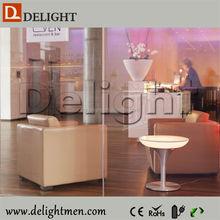 Plastic battery power night club lighting illuminated led table/ led tv table design/ nightclub ice bucket table for beer