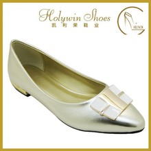 casual style office lady flat shoes ladies office wear flat shoes