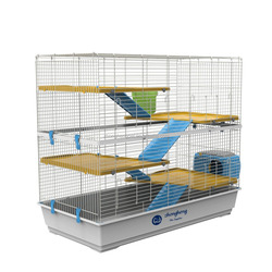 Steel and Plastic Wire Pet Cage Three Layer Rabbit Cage