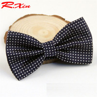 polyester dot bow tie marriage ties for men butterfly