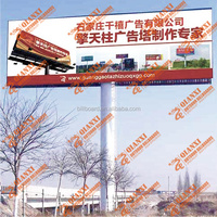 High quality Outdoor advertising double side frontlit unipole billboard