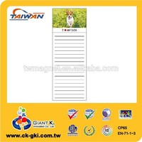 Customized souvenir fridge magnetic cute dog animal memo pads magnet