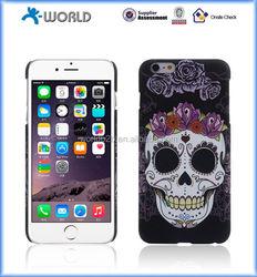 Skeleton glow in the dark mobile phone case light up comestic case